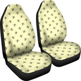 Honey Bees Design #1 Car Seat Covers (Light Yellow)  - FREE SHIPPING