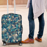 Nautical Design Luggage Cover (Turquoise) - FREE SHIPPING