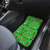 I Love Dogs Car Floor Mats (FPD Green, Front & Back) - FREE SHIPPING