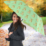 Yellow Rabbits Design #1 (Light Green) Umbrella - FREE SHIPPING