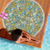 Nautical Design Beach Blanket (Yellow) - FREE SHIPPING