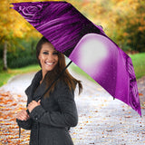 Calavera Fresh Look Design #2 Umbrella (Purple Night Owl Rose) - FREE SHIPPING