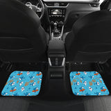 Shark Pattern #2 Car Floor Mats - FREE SHIPPING
