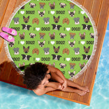 I Love Dogs Beach Blanket (Richmond SPCA Green) - FREE SHIPPING