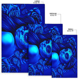 Calavera Fresh Look Design #2 Area Rug (Horizontal, Blue Elusive Rose) - FREE SHIPPING