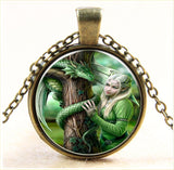 Green Dragon on Gold Chain