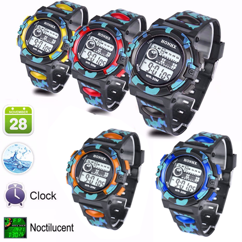 Cool Unisex Camo Watch – In 5 Fun Colors!