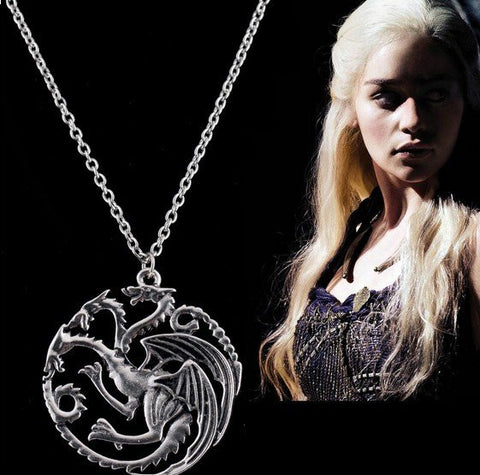 Game Of Thrones Song Of Fire And Ice Dragon Necklace – In Gold, Silver, & Bronze!