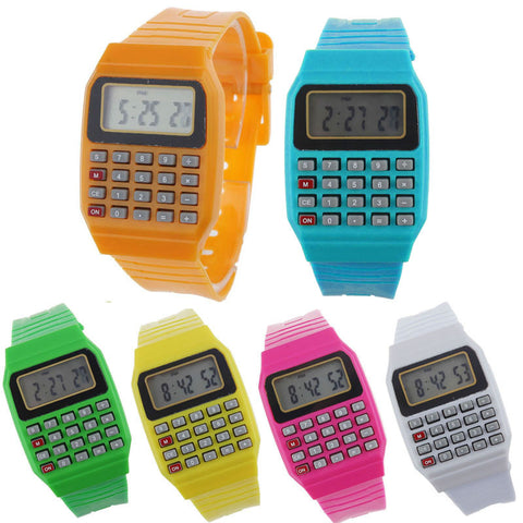 Cool Unisex Calculator Watch – In 6 Fun Colors