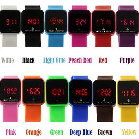 Cool Unisex Touch Screen Watch – In 12 Fun Colors!