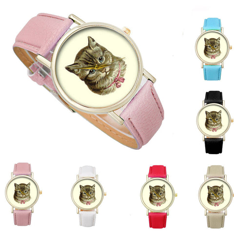 Women's Pretty-Cat Quartz Watch – In 6 Colors!