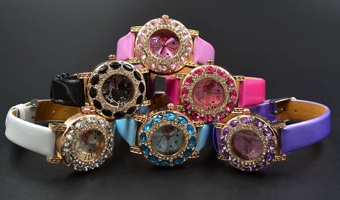 Women's Hello Kitty Blinged-Out Quartz Watch – In 6 Colors!