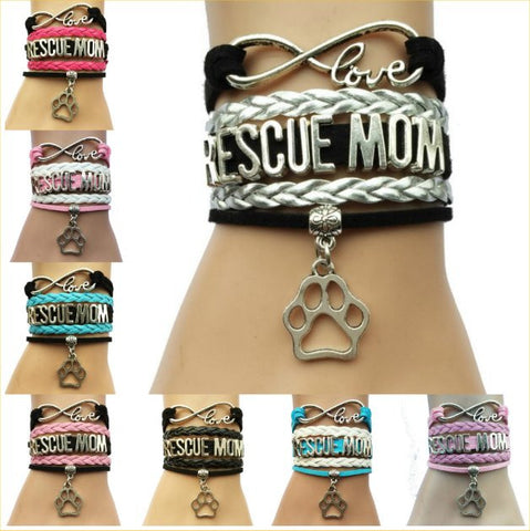 Infinity Love Rescue Mom Bracelet – In 8 Fun Colors!