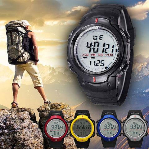 Cool Men's Digital LED Multifunction Hiking Watch