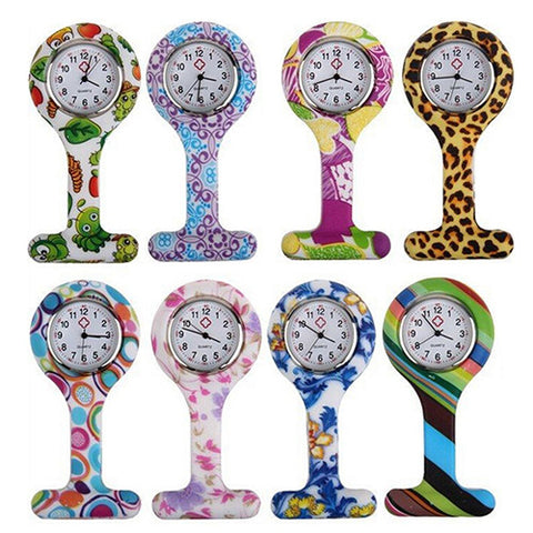 Cute Silicone Multiple-Design Clip-On Pendant Nurse Fob Quartz Watch – In 8 Fun Designs!