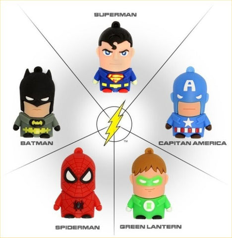 Batman & Super-Friends - USB Flash Drive In 5 Sizes - 4, 8, 16,, 32, & 64 GB