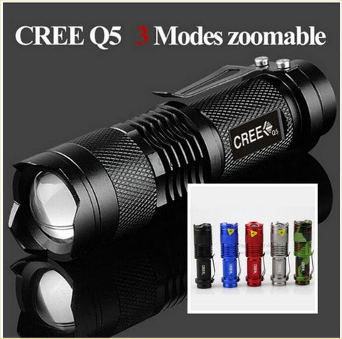 Super-Bright 2000 Lumens - LED Waterproof Mini Tactical Flashlight – In 5 Colors