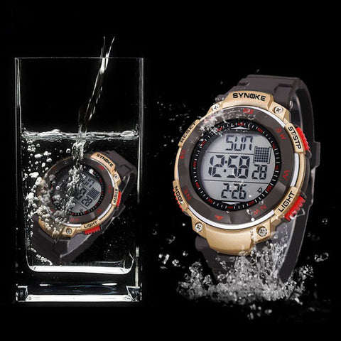 Cool Men's Digital LED Multifunction Waterproof Quartz Watch