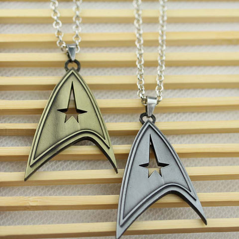 Star Trek Pendant Necklace In Bronze & Silver