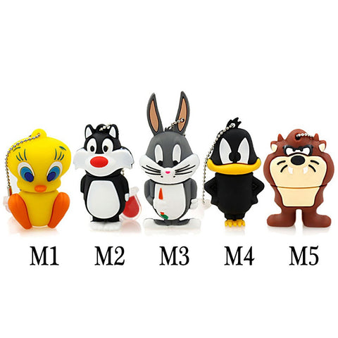 Looney Tunes Like Cartoon Character - USB Flash Drive - In 5 Sizes - 4, 8, 16, 32, & 64 GB