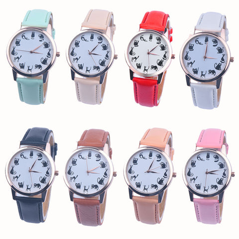 Women's Cute Funny-Cat Quartz Watch – In 8 Colors!