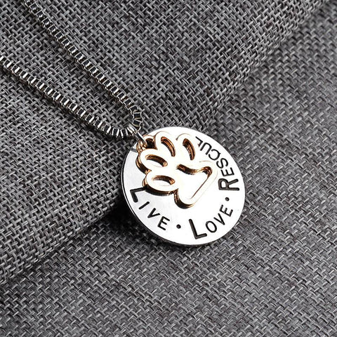 Live Love Rescue Necklace – Show Support For Pet Rescuers!