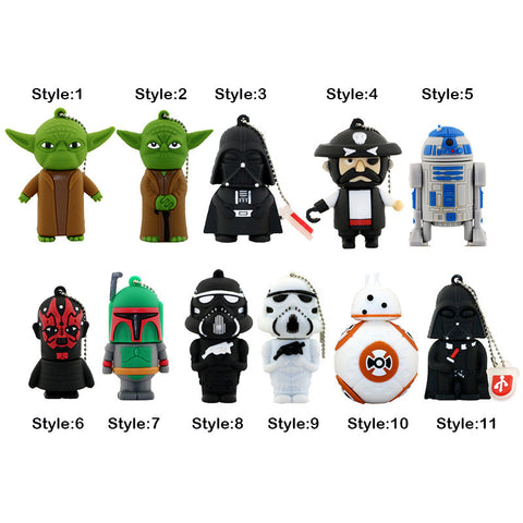 Star Wars - USB Flash Drive - In 5 Sizes - 4, 8, 16, 32, & 64 GB