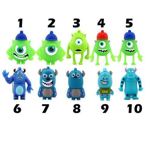 Monster University - USB Flash Drive - In 5 Sizes - 4, 8, 16, 32, & 64 GB