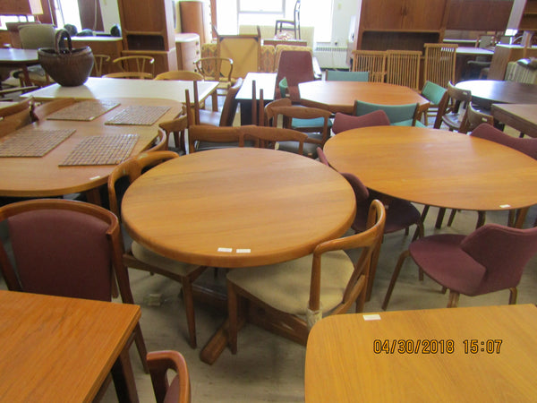 Round Solid Teak Dining Table