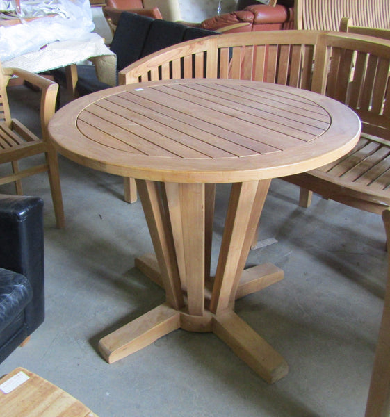 Solid Teak Outdoor Round Table