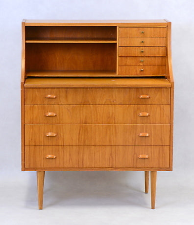 Teak Secretary with Mirror