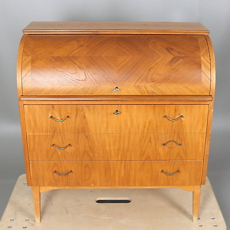Teak Secretary Cabinet with extendable writing tab  by AB Bröderna Gustafsson.