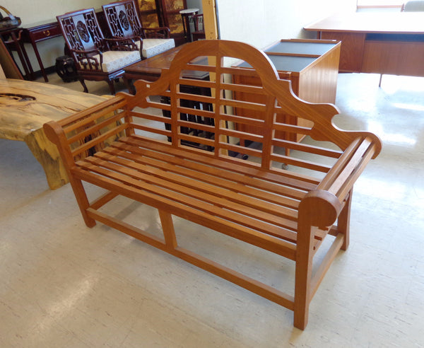 Ornamental Lutyens Solid Teak Outdoor Bench