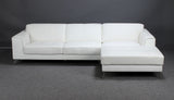 White Leather Sofa With Chaise Longue