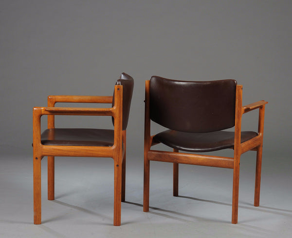 Teak Chairs with Armrests