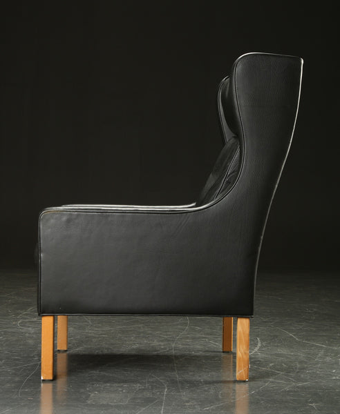 Leather Armchair by Mogens Hansen