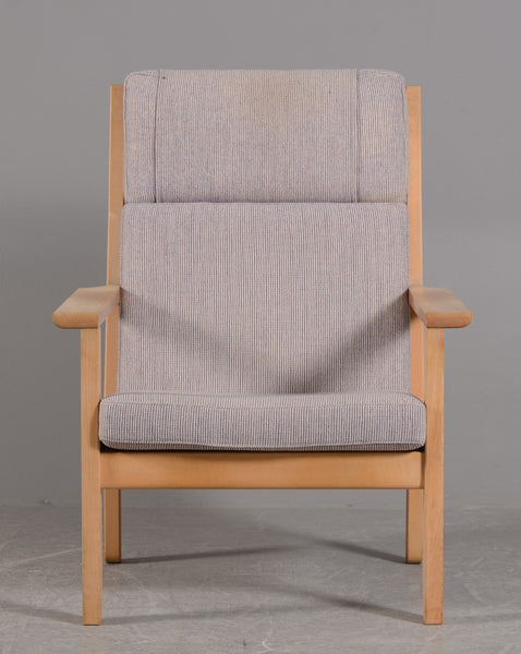 Beech Frame Armchair with Wool Upholstery by Bernt