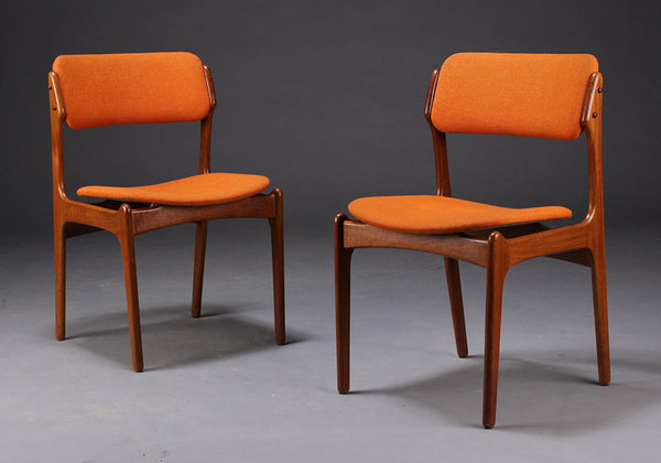 Teak Dining Chairs by Erik Buch