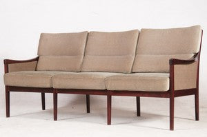Dark Stained Wood Sofa by Casala