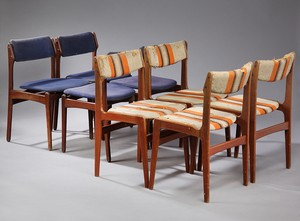 Teak Dining Chairs by Eric Buch