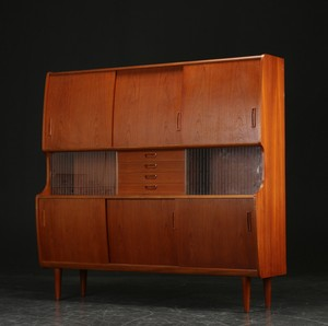 Teak High Sideboard by Jessen