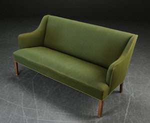 Borge Mogensen Sofa Green Wool Model 4709