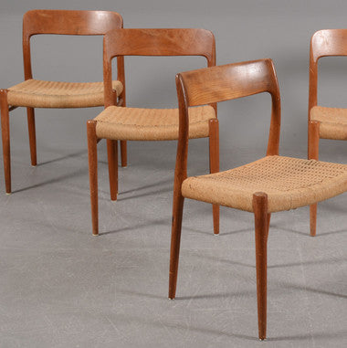 Teak Chairs by Niels O. Moller