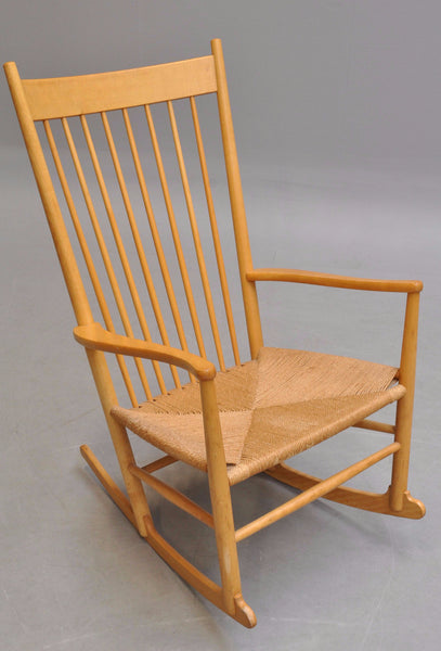Hans J. Wegner Solid Oak Rocking Chair