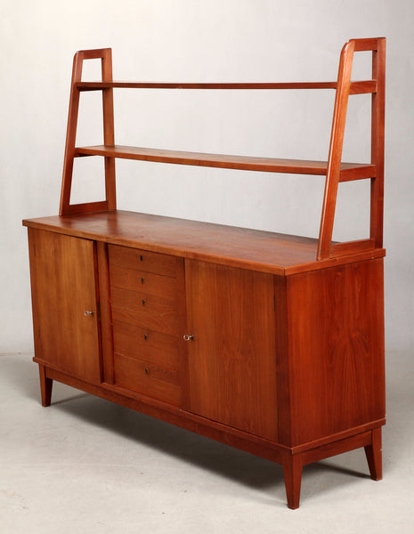 Teak Sideboard with Top Shelves