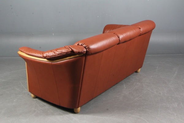 Leather / Oak Sofa