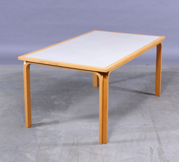 Beech Dining Table with White Surface by Rud Thygesen and Johnny Sorensen