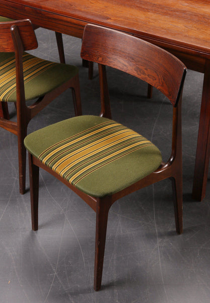 Rosewood / Beech Dining Chairs