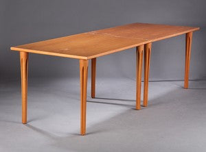 Two Beech Dining / Work Tables by Takashi Okamura and Erik Marquardsen