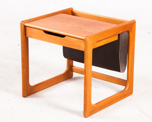 Teak Table with Magazine Rack